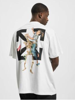 Off-White Camiseta Pasacl Sketeton Oversize blanco