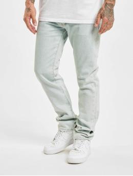Off-White dżinsy przylegające Diagonal Stripe niebieski