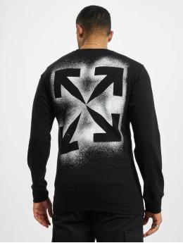 Off-White Longsleeve Stencil zwart