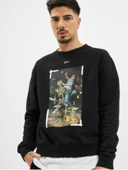 Off-White Pullover Pascal Print Slim  schwarz