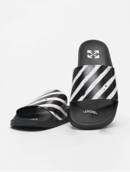 Off-White Sandals Spray Stripes black