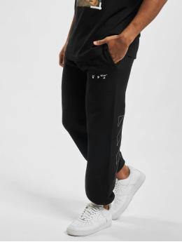 Off-White Spodnie do joggingu Diag Ow Logo Shorten czarny