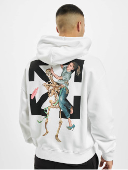 Off-White Sweat capuche Pascal Skeleton Over blanc
