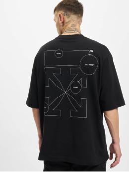Off-White T-Shirt Cut Here Arrow S/S Skate  black