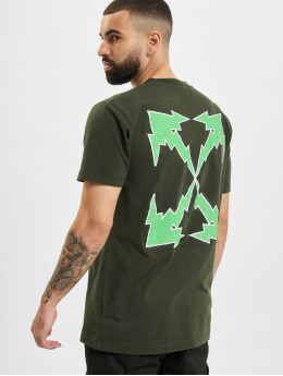 Off-White T-shirt Bolt Arrow S/S Slim grön