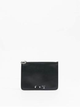 Off-White Tasche OW Logo Flat Pouch schwarz