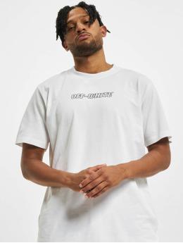 Off-White Trika Logo Print Cotton bílý