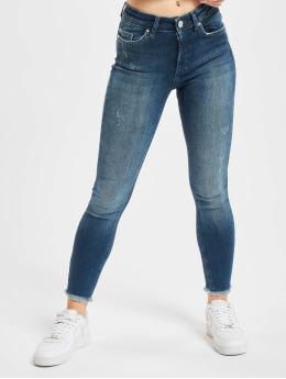 Only Облегающие джинсы onlBlush Life RAW REA811 синий