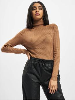 Only Пуловер Onlkarol Rollneck коричневый