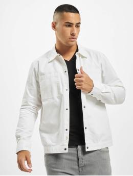 Only & Sons Camisa onsCris Herringbone Twill Overshirt blanco