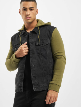 Only & Sons Denim Jacket onsCoin Hooded Trucker black
