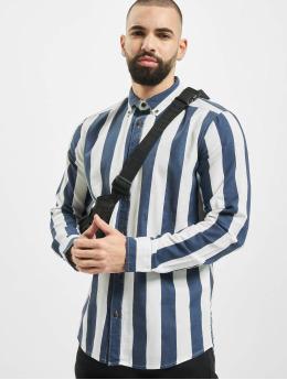 Only & Sons Hemd onsArif Ls Bold Strip  blau