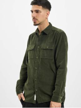 Only & Sons Koszule onsEdward Solid Corduroy zielony