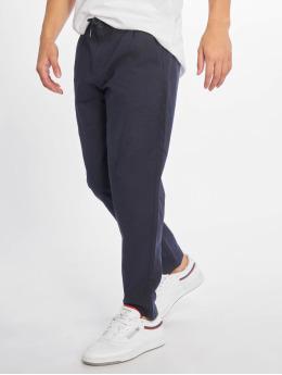 Only & Sons Látkové kalhoty onsLeo Linen Mix Noos modrý