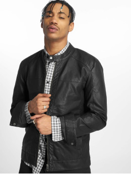 Only & Sons Leather Jacket onsMike Pu Racer black