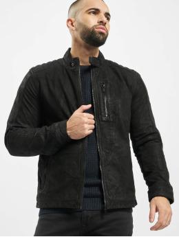 Only & Sons Leather Jacket onsRobert black