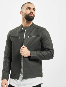 Only & Sons Leather Jacket onsFavour Jupiter Pu  grey