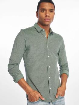 Only & Sons overhemd onsCuton Knitted Melange groen