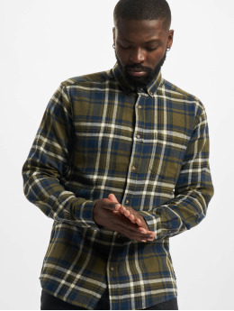 Only & Sons overhemd Onssimon Checked Flannel olijfgroen
