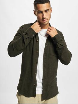 Only & Sons overhemd Onssimon Flannel olijfgroen