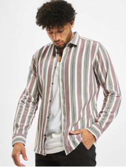 Only & Sons overhemd onsGustas Striped Herringbone rood