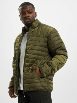 Only & Sons Prechodné vetrovky onsPaul Quilted Highneck olivová