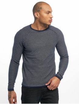 Only & Sons Pullover onsBoris Jaquard Struc Knit blau