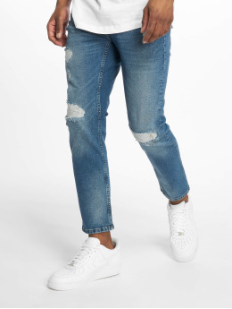 Only & Sons Rovné onsWeft Crop Washed modrá