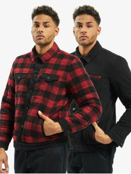 Only & Sons Spijkerjasjes Only & Sons onsCoin Reverse Check Jacket rood