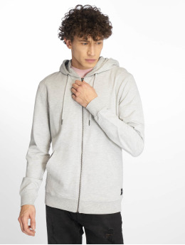 Only & Sons Sweat capuche zippé onsBasic Ubrushed gris