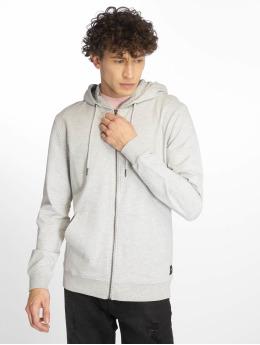 Only & Sons Sweat capuche zippé onsBasic Ubrushed gris