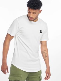 Only & Sons T-shirt longoversize onsEmbroidery Longy blanc