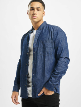 Only & Sons T-Shirt manches longues Onsbasic Denim bleu