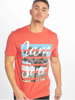 Only & Sons onsPacifica Fitte Camp T-Shirt Cranberry