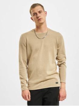 Only & Sons Trøjer onsGarson Life 12 Wash Knit Noos beige