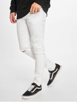 Only & Sons Vaqueros pitillos onsWarp Crop Knee Cut blanco
