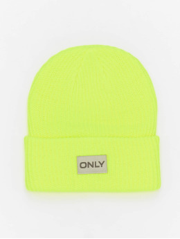 Only Beanie onlPetunia Neon Ribbed  geel