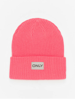Only Beanie onlPetunia Neon Ribbed  pink