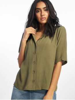 Only Blouse onlVega 2/4 Button  groen