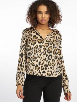 buy online 62093 909da Only Damen Bluse Onlmalou Leo in beige 622965