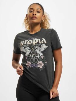 Only Camiseta Onllucy Utopia negro