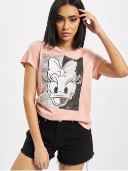 Only Camiseta onlDonald Daisy Face Jersey rosa