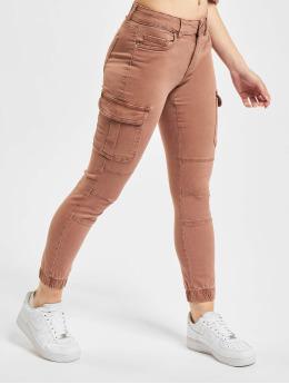 Only Cargo pants Onlmissouri REG ANK Life Noos hnědý