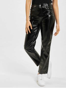 Only Chino onlEmily-Venyl High Waist schwarz