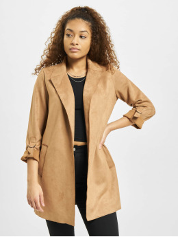 Only Coats onlJoline Faux Suede brown