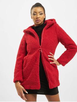 Only Frakker onlTerry Curly Fur Hood  rød