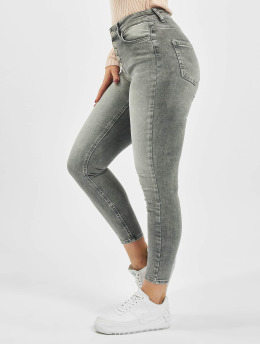 Only Jean skinny OonlBlush Hw Button gris