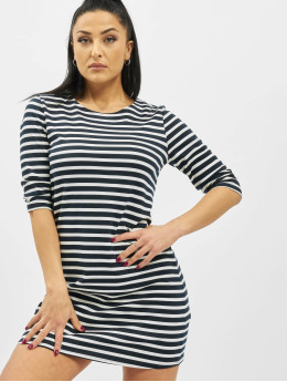 Only Kleid onlBrilliant NOS 3/4 Striped Jersey blau