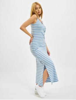 Only Kleid onlMay Life S/L V-Neck blau