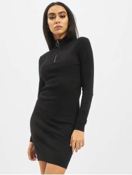 Only Kleid onlTyra Highneck Zip Knit schwarz